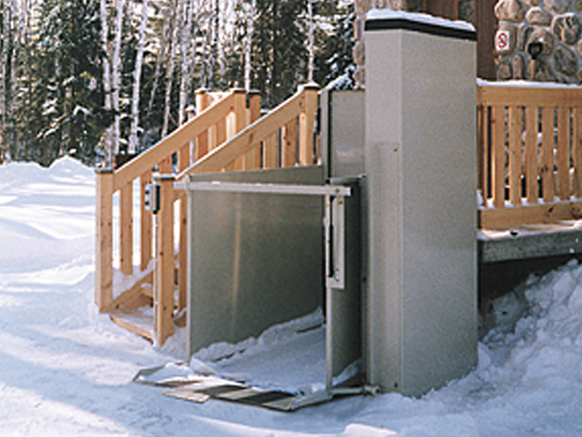 Wheelchair lifts wisconsin vertical inclined platform for Building a wheelchair accessible home