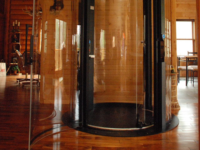 Home elevators wisconsin pneumatic hydraulic elevators for Luxury homes with elevators
